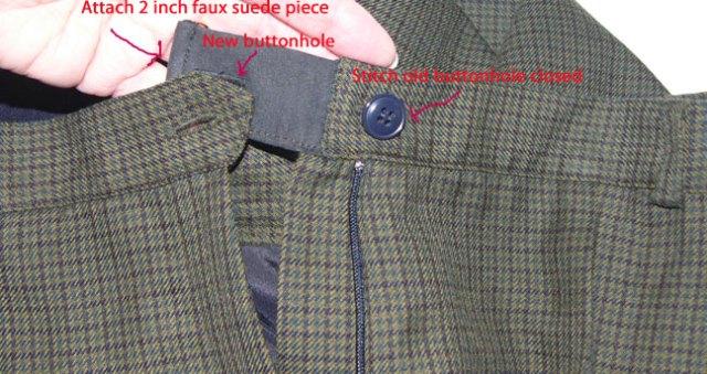plaid-waistband