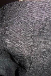 black-open-pleat