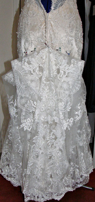 The Lace Is Gorgeous And You Can See Actual Pattern It Forms With Huge Godet Wedge At Center Back